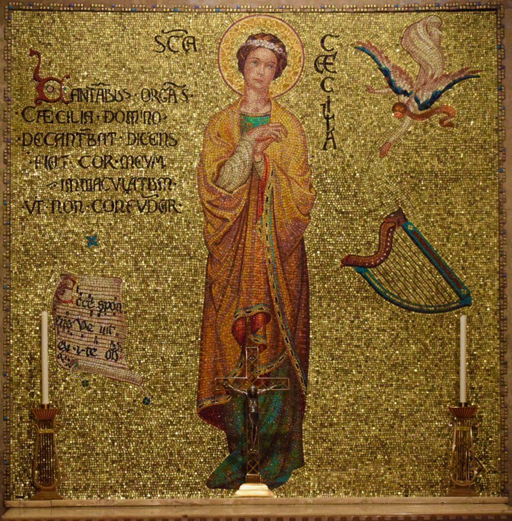 St. Cecilia chapel closeup