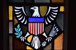 Great seal of the United States patroness window