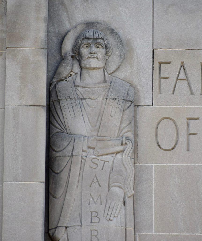 St. Ambrose east portico