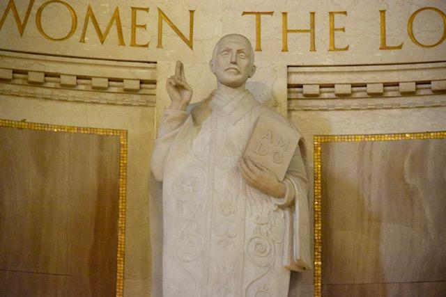 Saint Ignatius Statue in Basilica