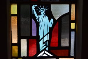 statue of liberty patroness window