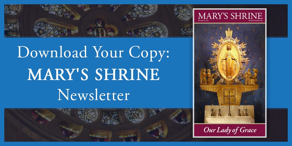Mary's Shrine newsletter banner