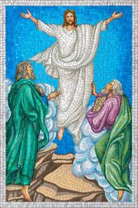 transfiguration as depicted in the rosary garden