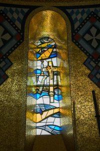 trinity Dome window crucifixion