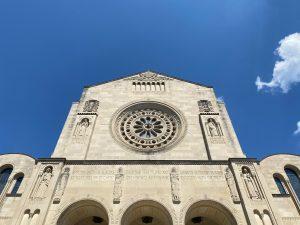 West facade of the basilica
